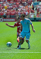 10 July 2010: Colorado Rapids midfielder Jamie Smith #20 and Toronto FC midfielder Nick LaBrocca #21in action during a game between the Colorado Rapids and Toronto FC at BMO Field in Toronto..Toronto FC won 1-0.