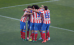 Atletico de Madrid's players celebrate during La Liga match. May 12, 2013. (ALTERPHOTOS/Alvaro Hernandez)