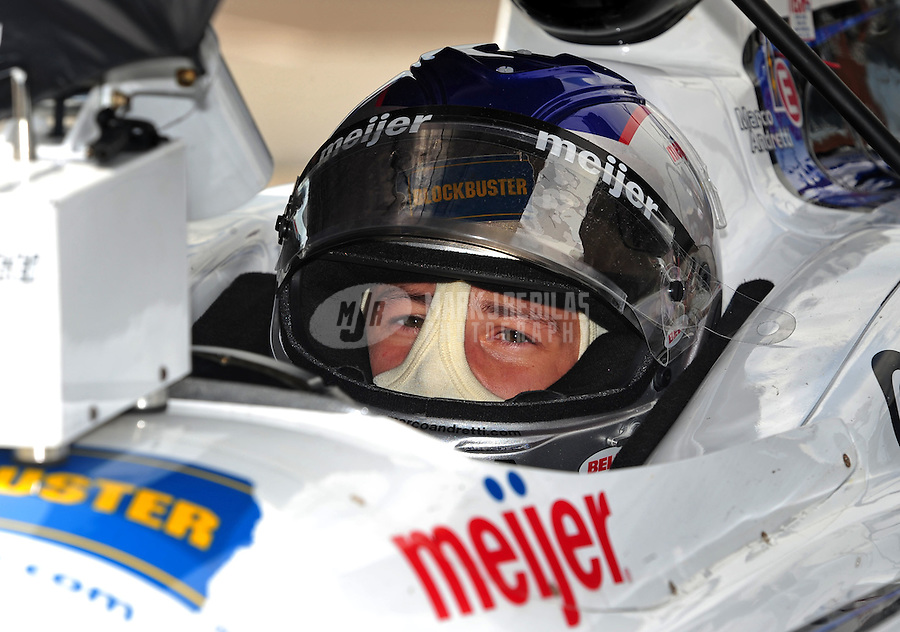 Jun. 20, 2008; Newton, IA, USA; IRL driver Marco Andretti during practice for the Iowa Corn Indy 250 at the Iowa Speedway. Mandatory Credit: Mark J. Rebilas-