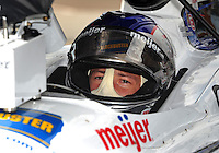 Jun. 20, 2008; Newton, IA, USA; IRL driver Marco Andretti during practice for the Iowa Corn Indy 250 at the Iowa Speedway. Mandatory Credit: Mark J. Rebilas-