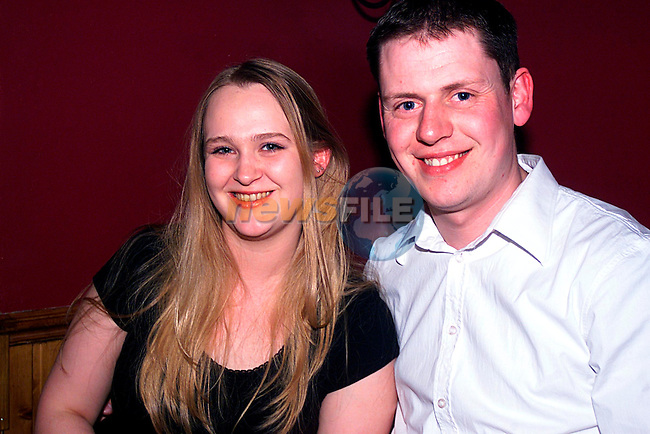 Clair Hayden and Darnoen Collier enjoying A Night Magnun,s...Pic Newsfile