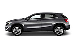 Car driver side profile view of a 2018 Mercedes Benz GLA GLA250 5 Door SUV
