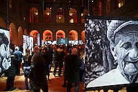 A photography exhibition by French-Greek TV host Nikos Aliagas, on January 16, 2017, in Paris.