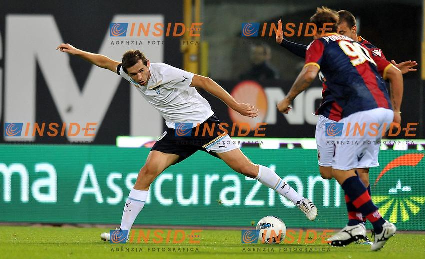"""Senad LULIC (Lazio).Bologna 23/10/2011 Stadio """"Dallara"""".Serie A 2011/2012.Football Calcio Bologna Vs Lazio.Foto Insidefoto Alessandro Sabattini."""