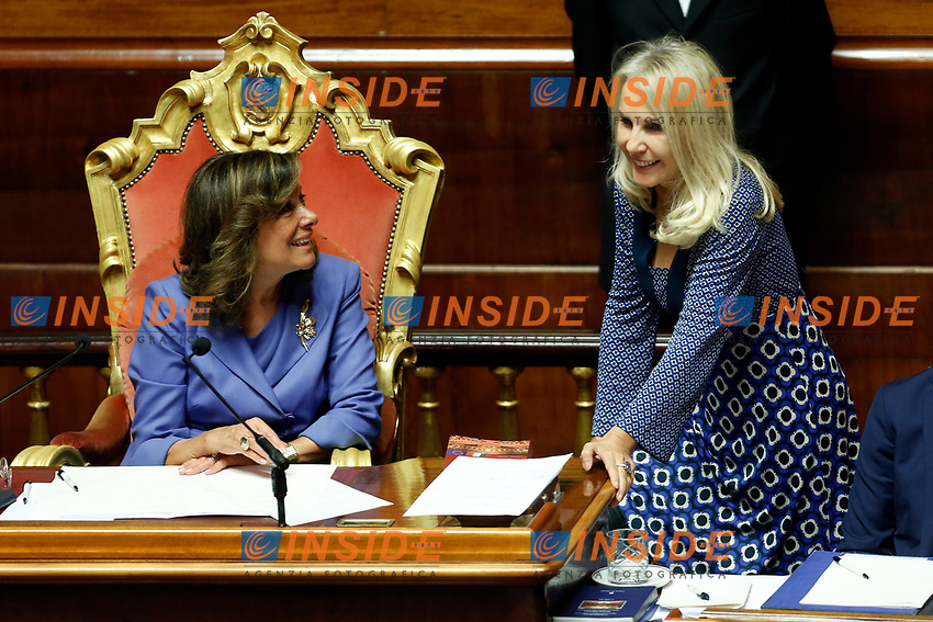 Julia Unterberger and Elisabetta Alberti Casellati<br /> Rome September 10th 2019. Senate. Discussion and Trust vote at the new Government. <br /> Foto  Samantha Zucchi Insidefoto