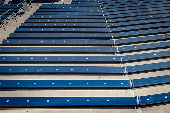 March 8, 2017; New bleachers in Notre Dame Stadium (Photo by Matt Cashore/University of Notre Dame)