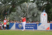 Hideto Tanihara (Asia) on the 17th tee during the Singles Matches of the Eurasia Cup at Glenmarie Golf and Country Club on the Sunday 14th January 2018.<br /> Picture:  Thos Caffrey / www.golffile.ie