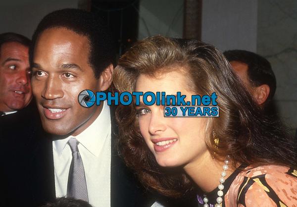 OJ Simpson Brooke Shields 1982<br /> Photo By John Barrett/PHOTOlink.net