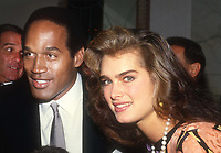 OJ Simpson Brooke Shields 1982<br /> Photo By John Barrett/PHOTOlink.net