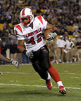 25 November 2006: Louisville Cardinals running back Anthony Allen (42)..The Louisville Cardinals defeated the Pitt Panthers 48-24 on November 25, 2006 at Heinz Field, Pittsburgh, Pennsylvania.