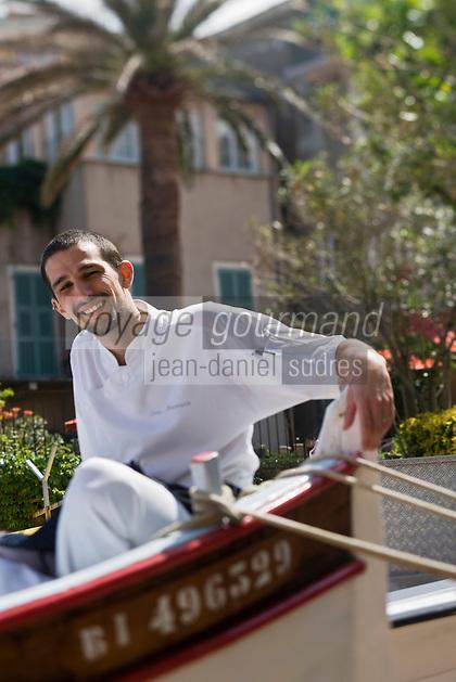 Europe/France/Corse/2B/Haute-Corse/Erbalunga:   Jerry Monmessin   chef du restaurant :Le Pirate,