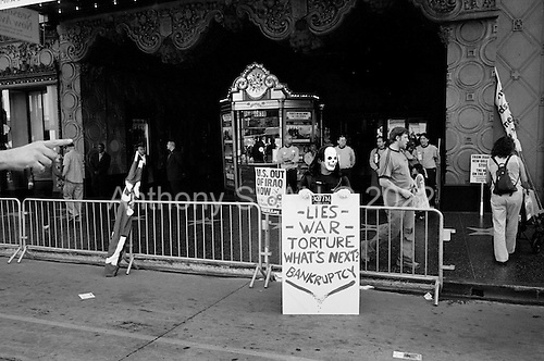 Los Angeles, California.USA.March 17, 2007..Demonstrators on Hollywood Boulevard protest the fourth anniversary of the war in Iraq.