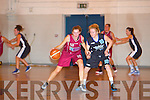 Tralee Imperials Deirdre Kearney tries to stop NUIG's Lauren Murray at the Mounkhawk Gym on Saturday.