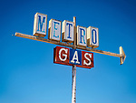 Old Metro Gas station sign, Elko, Nevada