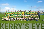 The Kerry minor team who pllayed :LImerick minor team on the first day of the Todd Nolan Hurling Tourment in ilmoyley on Satuday. FRont l-r: John Godley, Gearoid Sheehan, Kevin O'Sullivan, Ricky Heffernan, Tony Cunningham, David Goulding, Luke Fitzell, Darren Wallace, Paul McGrath, Darren Leen and Dougie Fitzell. Back l-r: Tadhg Moore, Mikie Halloran, Tomas Casey, Tom McElligott, Eric O'Connor, Tommy Barrett, Padraig Boyle, Kieran Fitzgibbon, Muiris Delaney, James O'Connor, Cian Hussey, Pat Joe Connolly, Shane Dunne and Damien Lynch...