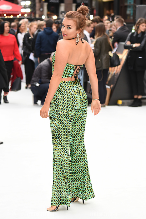 """LONDON, UK. September 12, 2018: Tallia Storm at the World Premiere of """"King of Thieves"""" at the Vue Cinema, Leicester Square, London.<br /> Picture: Steve Vas/Featureflash"""