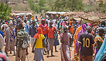 A weekly market in Gidel, a village in the Nuba Mountains of Sudan.