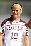 09 September 2011: Texas A&M's Chelsea Jones. The Duke University Blue Devils defeated the Texas A&M Aggies 7-2 at Koskinen Stadium in Durham, North Carolina in an NCAA Division I Women's Soccer game.