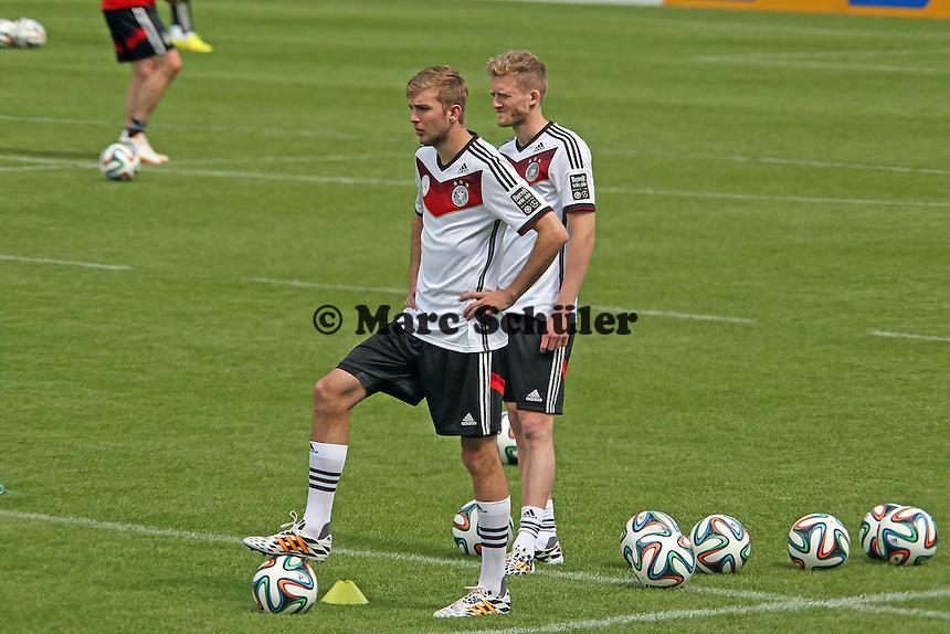 Christoph Kramer, Andre Schürrle - Abschlusstraining der Deutschen Nationalmannschaft gegen die U20 im Rahmen der WM-Vorbereitung in St. Martin