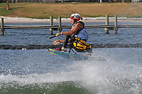 ORLANDO, FL - April 29:  Ian Hickmott AUS, finishes third in the Adaptive Sitboarding Division at the WWA Nautique Wake Open 2017 at  the Orlando Watersports Complex on April 29, 2017 in Orlando, Florida. (Photo by Liz Lamont/Eclipse Sportswire/Getty Images)