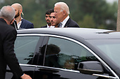 Former United States Vice President Joe Biden arrives prior to a funeral service for late Senator John McCain, Republican of Arizona at the National Cathedral in Washington, DC on September 1, 2018. Credit: Alex Edelman / CNP