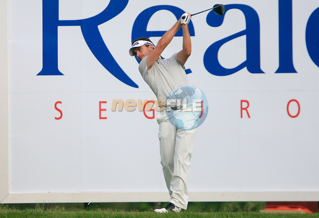 Alejandro Canizares (ESP) tees off on the 17th tee during Day 1 of the Open de Espana at Real Club De Golf El Prat, Terrasa, Barcelona, 5th May 2011. (Photo Eoin Clarke/Golffile 2011)