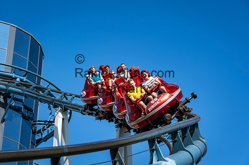 Germany, Baden-Wurttemberg, Rust (Baden): Europa-Park - Euro-Mir roller coaster at Russian themed area | Deutschland, Baden-Wuerttemberg, Rust (Baden) im Ortenaukreis: Europa-Park - Euro-Mir Achterbahn im russischen Themenbereich