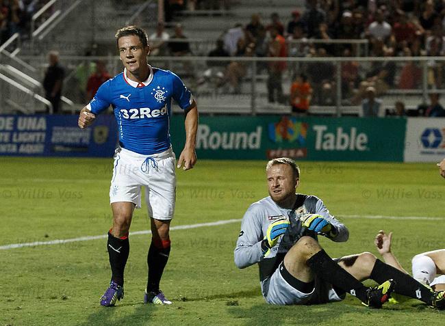 Ian Black celebrates his goal for Rangers