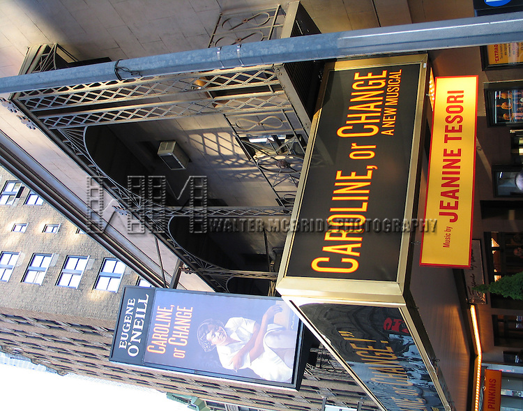 Theatre Marquee.Tonya Pinkins Starring in the New Broadway Musical CAROLINE OR CHANGE at the Eugene O'Neill Theatre in New York City. May 2, 2004.© Walter McBride /  .