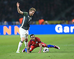 Germany's Andre Schurrle tussles with England's Danny Rose during the International Friendly match at Olympiastadion.  Photo credit should read: David Klein/Sportimage