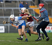 2nd February 2020; TEG Cusack Park, Mullingar, Westmeath, Ireland; Allianz Division 1 Hurling, Westmeath versus Waterford; Jack Fagan (Waterford) gets away from Adam Ennis and Aaron McHugh (Westmeath)
