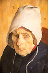 'Old Woman' 1888 oil painting on canvas by Eilif Peterssen 1852-1928,  Kode 3 art gallery Bergen, Norway