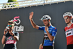 Maglia Azzurra Giulio Ciccone (ITA) Trek-Segafredo at sign on before Stage 20 of the 2019 Giro d'Italia, running 194km from Feltre to Croce d'Aune-Monte Avena, Italy. 1st June 2019<br /> Picture: Massimo Paolone/LaPresse | Cyclefile<br /> <br /> All photos usage must carry mandatory copyright credit (© Cyclefile | Massimo Paolone/LaPresse)