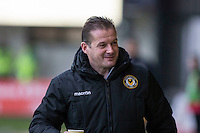 Newport County manager Graham Westley ahead of the Sky Bet League 2 match between Newport County and Morecambe at Rodney Parade, Newport, Wales on 10 December 2016. Photo by Mark  Hawkins.