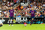 Arthur Melo of FC Barcelona (R) in action during their La Liga 2018-19 match between Valencia CF and FC Barcelona at Estadio de Mestalla on October 07 2018 in Valencia, Spain. Photo by Maria Jose Segovia Carmona / Power Sport Images