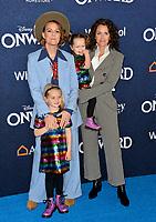 "LOS ANGELES, CA: 18, 2020: Brandi Carlile, Catherine Shepherd, Evangeline Ruth Carlile & Elijah Carlile  at the world premiere of ""Onward"" at the El Capitan Theatre.<br /> Picture: Paul Smith/Featureflash"