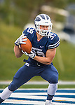 8 October 2016: Middlebury College Panther Running Back Wyllis McKissick, a Freshman from Littleton, CO, in action against the Amherst College Purple & White at Alumni Stadium in Middlebury, Vermont. The Panthers edged out the Purple & While 27-26. Mandatory Credit: Ed Wolfstein Photo *** RAW (NEF) Image File Available ***