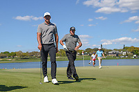 Brooks Koepka (USA) and Phil Mickelson (USA) head to 7 during round 1 of the Arnold Palmer Invitational at Bay Hill Golf Club, Bay Hill, Florida. 3/7/2019.<br /> Picture: Golffile | Ken Murray<br /> <br /> <br /> All photo usage must carry mandatory copyright credit (&copy; Golffile | Ken Murray)