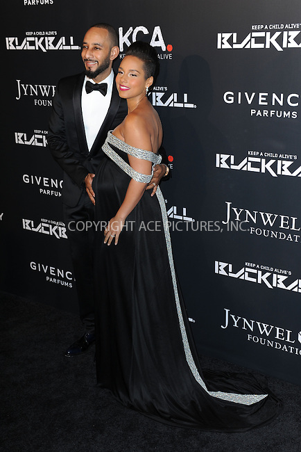 WWW.ACEPIXS.COM<br /> October 30, 2014 New York City<br /> <br /> Swizz Beatz and Alicia Keys attending Keep A Child Alive's 11th Annual Black Ball at Hammerstein Ballroom on October 30, 2014 in New York City. <br /> <br /> By Line: Kristin Callahan/ACE Pictures<br /> ACE Pictures, Inc.<br /> tel: 646 769 0430<br /> Email: info@acepixs.com<br /> www.acepixs.com