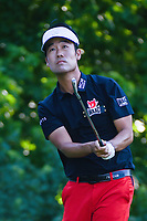 Kevin Na (USA) watches his tee shot on 8 during round 2 of the Fort Worth Invitational, The Colonial, at Fort Worth, Texas, USA. 5/25/2018.<br /> Picture: Golffile | Ken Murray<br /> <br /> All photo usage must carry mandatory copyright credit (&copy; Golffile | Ken Murray)