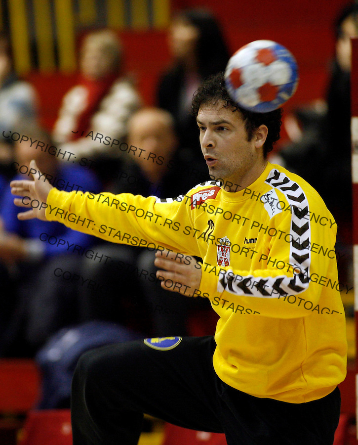 Stanic Darko Sport Rukomet Srbija Rumunija Serbia Romania Friendly Handball Belgrade Serbia Starsport Pedja Milosavljevic National Team 27.12.2008. photo: Pedja Milosavljevic / STARSPORT
