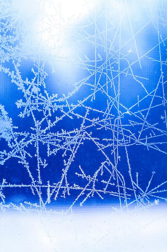 Window frost, Brandon, Vermont