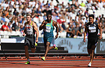 (l to r) Mathias BRUGGER (GER), Luiz Alberto DE ARAÚJO (BRA) and Sutthisak SINGKHON (THA) in the mens decathlon 100m. IAAF world athletics championships. London Olympic stadium. Queen Elizabeth Olympic park. Stratford. London. UK. 11/08/2017. ~ MANDATORY CREDIT Garry Bowden/SIPPA - NO UNAUTHORISED USE - +44 7837 394578