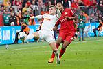 05.10.2019, BayArena, Leverkusen, GER, 1. FBL, Bayer 04 Leverkusen vs. RB Leipzig,<br />  <br /> DFL regulations prohibit any use of photographs as image sequences and/or quasi-video<br /> <br /> im Bild / picture shows: <br /> Nadiem Amiri (Leverkusen #11), im Zweikampf gegen  Jonathan Tah (Leverkusen #4), <br /> <br /> Foto © nordphoto / Meuter