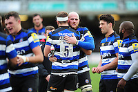 Matt Garvey of Bath Rugby looks on after the match. Aviva Premiership match, between Bath Rugby and Saracens on December 3, 2016 at the Recreation Ground in Bath, England. Photo by: Patrick Khachfe / Onside Images