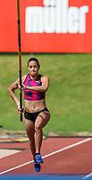 Robeilys PEINADO of Venezuela in the Women's pole Vault during the Muller Grand Prix Birmingham Athletics at Alexandra Stadium, Birmingham, England on 20 August 2017. Photo by Andy Rowland.