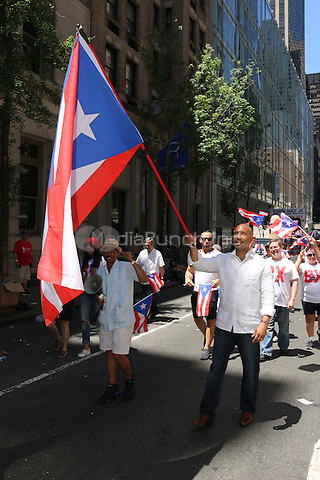 NEW YORK, NY - JUNE 12: Ruben Diaz Jr. at The Puerto Rican Day Parade in New York City on June 12, 2016. Photo Credit: Walik Goshorn/Media Punch