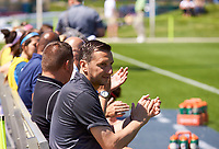Kansas City, MO - Saturday May 13, 2017: Vlatko Andonovski, during a regular season National Women's Soccer League (NWSL) match between FC Kansas City and the Portland Thorns FC at Children's Mercy Victory Field.