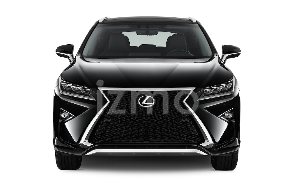 Car photography straight front view of a 2016 Lexus RX F SPORT 5 Door Suv 2WD Front View