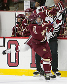 Jesper Mattila (BC - 8), Luke Esposito (Harvard - 9) - The Harvard University Crimson defeated the visiting Boston College Eagles 5-2 on Friday, November 18, 2016, at the Bright-Landry Hockey Center in Boston, Massachusetts.